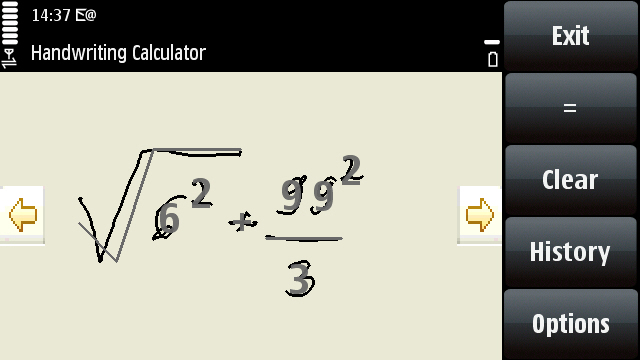wordmobi0013 Nokia Handwriting Calculator