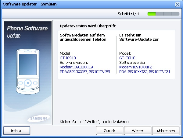 bild 1 Samsung I8910 Omnia HD Firmware Update IG2 finally available