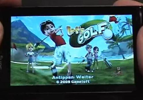 Lets Golf on the Sony Ericsson Satio