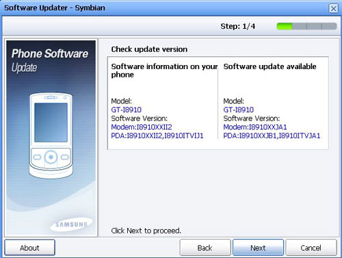 New Firmware Update JB1 Released - Samsung i8910 Omnia HD