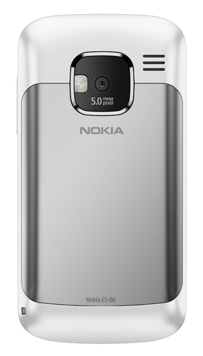Nokia E5 White Back lowres Nokia C6 & Nokia E5 announced: Social networking and messaging brought to life