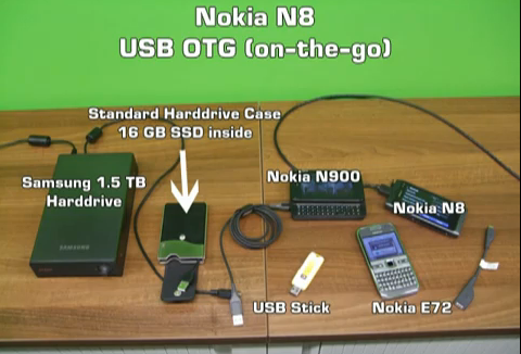 Nokia N8 USB on the go