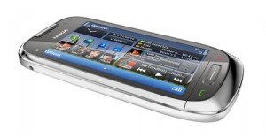 nokia c7 side silver