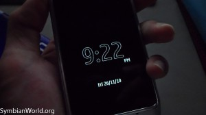 Nokia N8 Symbian^3 Screen Saver Big Clock