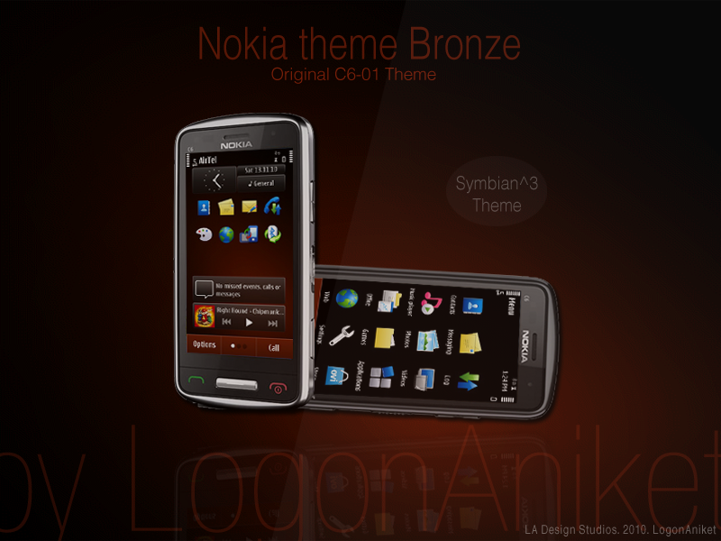 Nokia Theme Bronze Symbian^3 Themes for Nokia N8 Nokia C7 Nokia C6 01 and Nokia E7