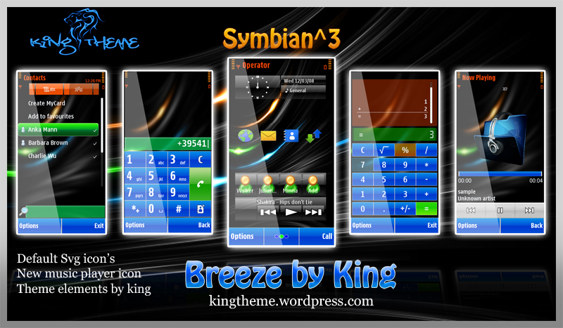 breeze Symbian^3 Themes for Nokia N8 Nokia C7 Nokia C6 01 and Nokia E7