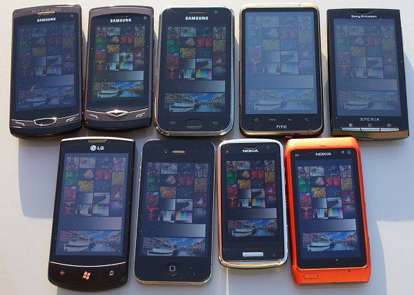 nokia n8 nokia c6-01 apple iphone 4 lg optimus htc desire hd xperia x10 samsung galaxy S wave