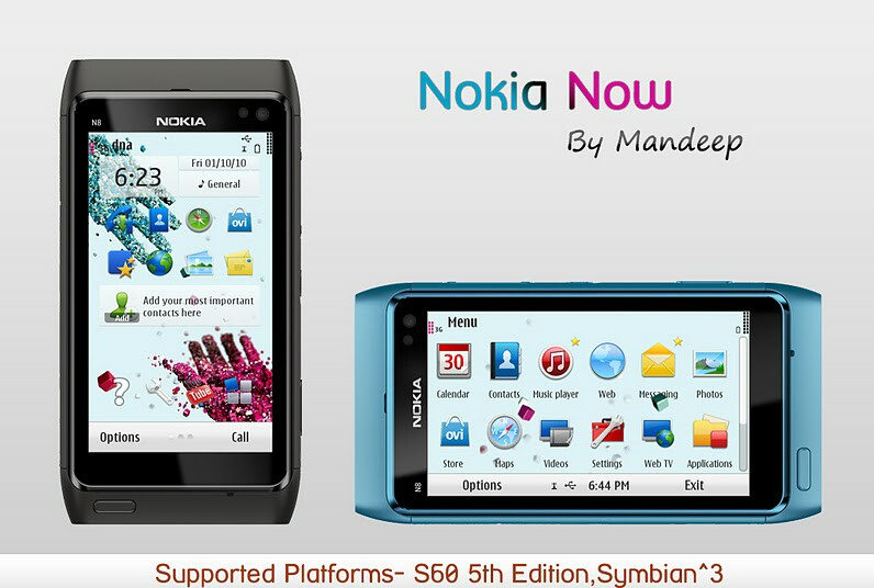 nokia now S^3 Symbian^3 Themes for Nokia N8 Nokia C7 Nokia C6 01 and Nokia E7