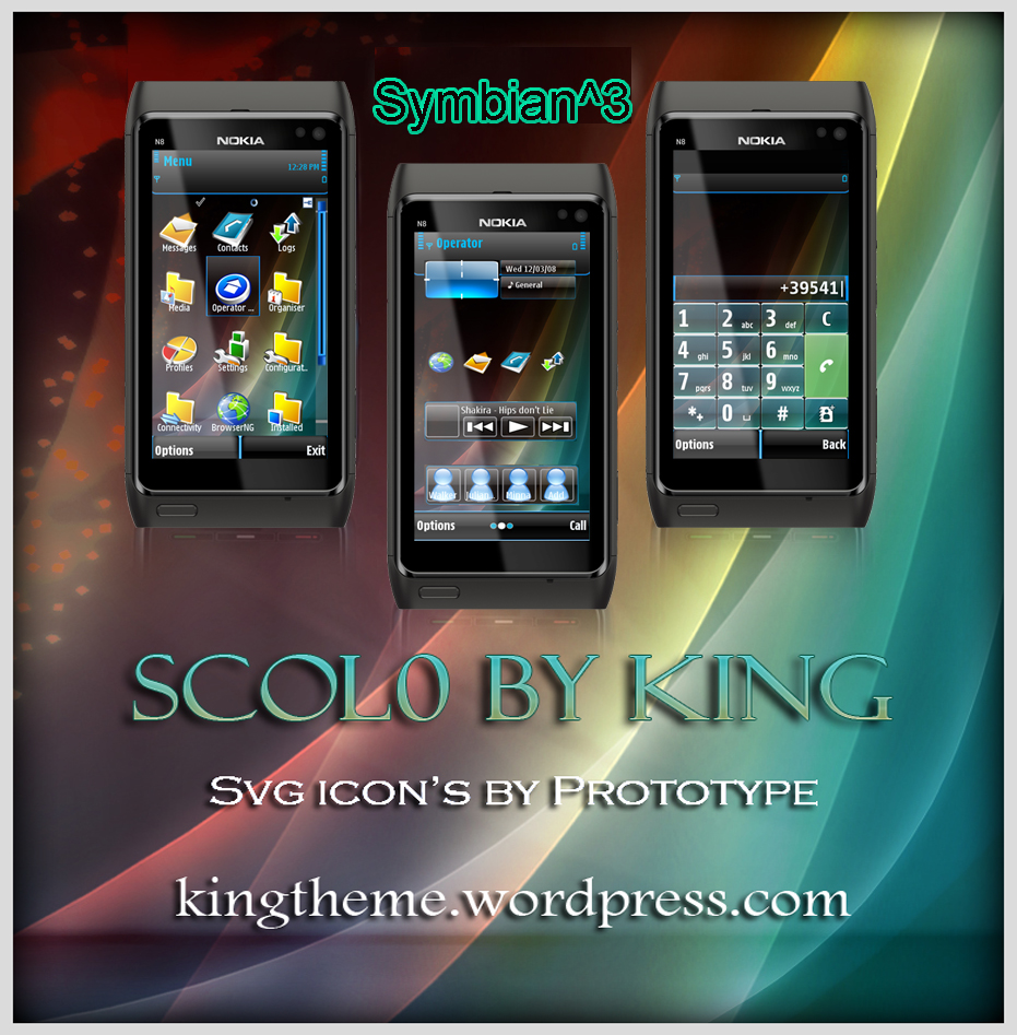 scolo S^3 Symbian^3 Themes for Nokia N8 Nokia C7 Nokia C6 01 and Nokia E7