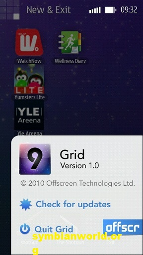Grid Touch for Symbian demo on Nokia C7 and N8 (2)