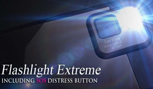 extreme flashlight S60 5th Edition Freeware Downloads for Nokia 5800, N97, 5530, C6, 5230, X6 and Samsung I8910