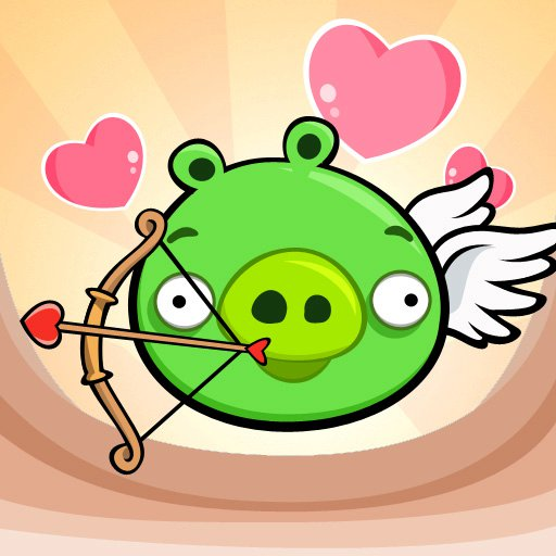 Angry Birds Pig valentine