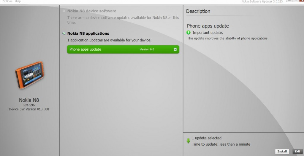 Nokia N8 Phone Apps Update