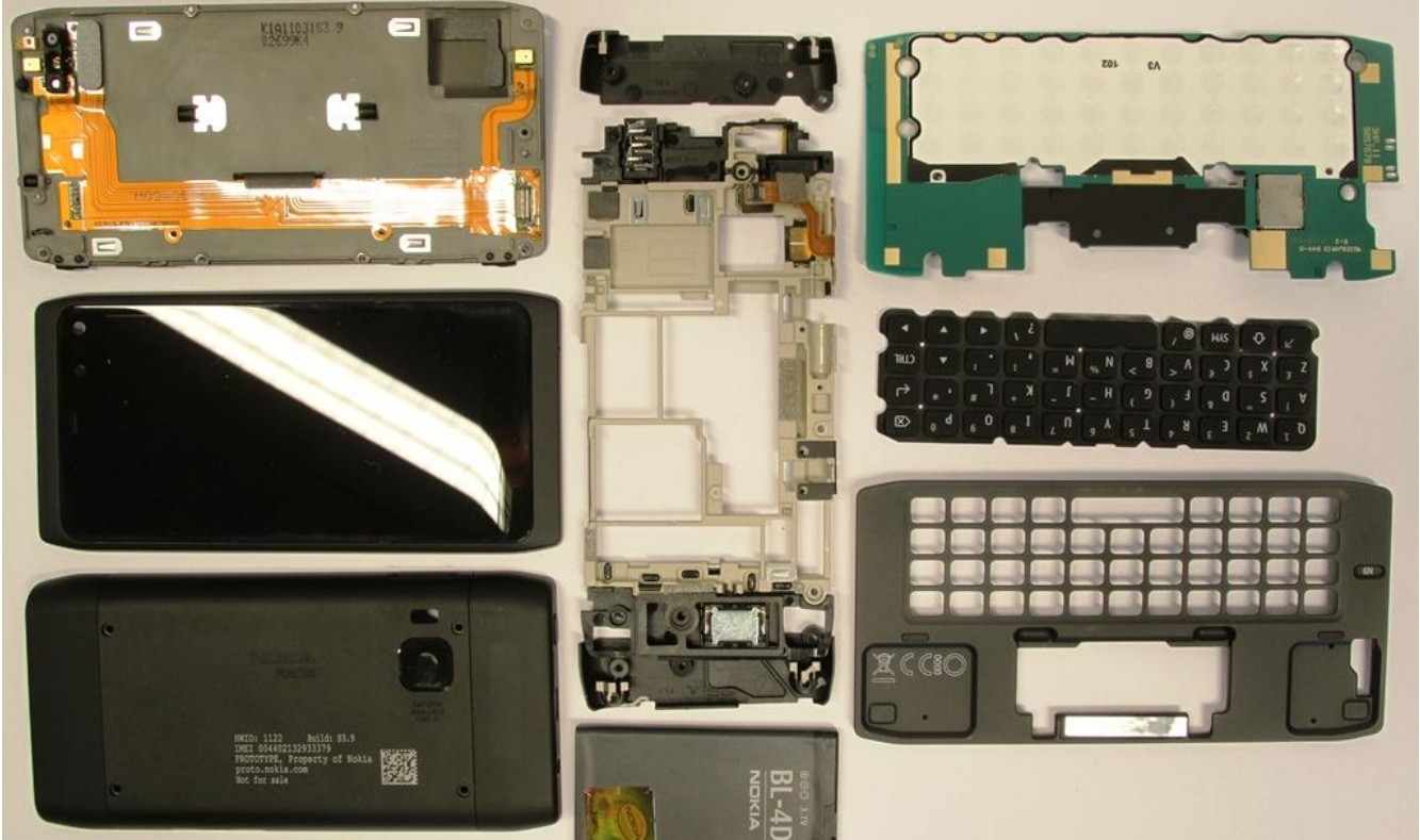 Nokia N950 Parts keyboard