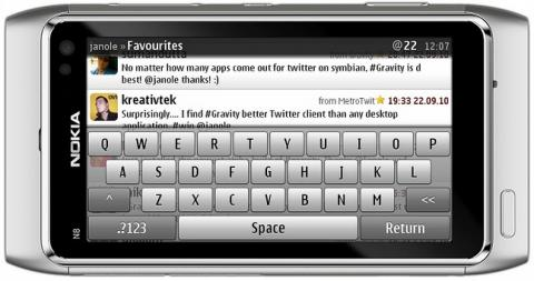 gravity for symbian Best Social Apps for Symbian: Facebook, Twitter, Foursquare (Part 1)